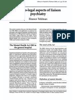 Feldman 1998 Medicolegal Aspects of Liaison Psychiatry