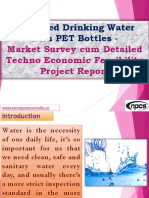 Packaged Drinking Water  with PET Bottles - Market Survey cum Detailed Techno Economic Feasibility Project Report