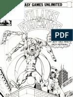 Villains & Vigilantes GM Screen