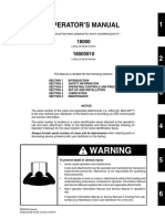 18000 Operator Manual