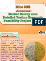 Rice Mill (Parboiled Rice) - Market Survey cum Detailed Techno Economic Feasibility Project Report