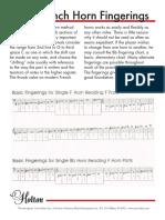 Frenchhorn Fingering