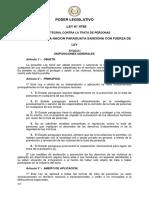 Py LEY 4788 Integral Contra La Trata de Personas