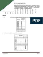Ejercicios comentados de Estadística descriptiva