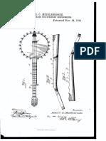 US 463954 Middlebrooke Fingerboard for Stringed Instrument 1891