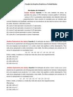 Lista de Excercícos_Atividades Fixação Estatistica e Probabilidade 1ª Etapa