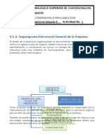 Organigrama Estructural de una Empresa