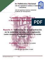 Reporte 4 Cinetica y Reactores