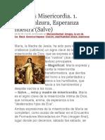 María Es Misericordia 1 Vida, Dulzura, Esperanza Nuestra (Salve)