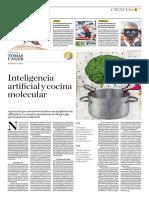 Inteligencia Artificial y Cocina Molecular
