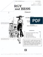 Porgy and Bess Choral Score