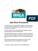 Safe Work Procedures