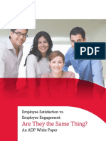 Employee Engagement vs Employee Satisfaction White Paper