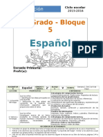 Plan 2do Grado - Bloque 5