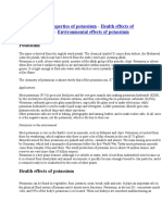 Chemical Properties of Potassium