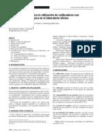 Recomendaciones Para La Utilización de Calibradores Con Trazabilidad Metrológica en El Laboratorio Clínico (2005)