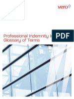Vero Profin Professional Indemnity Glossary