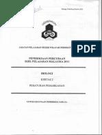 Spm Bio Trial 2011 Jpnwpkl p2 Answer Scheme