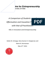 A Comparison of Students Use of Effectuation and Causation Principles