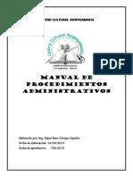 Manual de Procedimiento CCA-2015