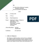 Minutes of Meeting (Sample)