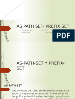 As Path Set- Prefix Set