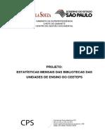 PROJETO - ESTATÍSTICAS MENSAIS DAS BIBLIOTECAS DAS UNIDADES DE ENSINO DO CEETEPS - 2º semestre 2013.pdf