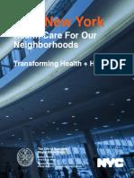New York City Health + Hospitals report