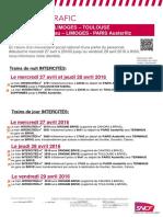 Prévisions Trafic SNCF