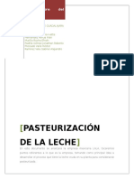 Proceso de Leche Pasteurizada
