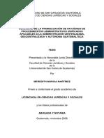 Procedimientos, codigos de una Guatemala Desentralizada