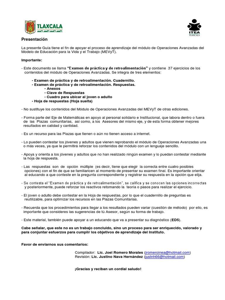 Fantástico Clave De Respuestas A Las Hojas De Trabajo De Matemà ...