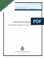 VPD SisterWatch Evaluation
