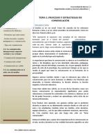 PROCESOS Y ESTRATEGIAS DE COMUNICACIÓN