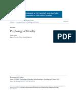 Psychology of Morality