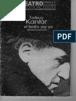 Revista Truenos y Misterios - Tadeusz Kantor