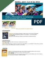 Vida y Ministerio Cristianos Abril 1