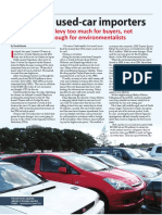 Taxing Used-car Importers June 2015