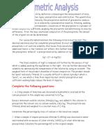 Gravimetric Analysis Worksheet
