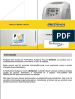Manual Panificadora Multipane Touch N Britânia