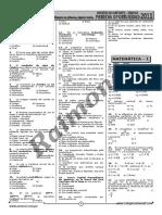 Examen de Admisión 1ra Oport 2011 - UNSAAC