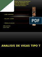 ANÁLISIS DE VIGAS TIPO T (HORMIGÓN ARMADO)