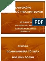 Từ Thanh Thảo- Chương 2- DNTN & HKD