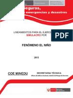 Lineamientos Simulacro FEN 11 Dic 15