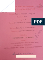 Mapas Conceptuales. Temas, 1.7 Corrientes Del Pensamiento Económico 1.8 Modos de Producción 1.9 Relación de La Economía, El Estado y La Sociedad