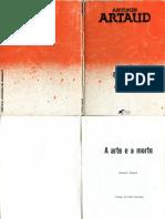 ARTAUD, Antonin. a Arte e a Morte
