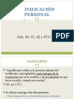 Notificacion Personal - Notificación 44 CPC