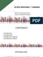 Planificaciógfn Regional y Urbana