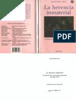 Levi-La Herencia Inmaterial