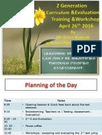 Evaluation Assessment & 2g Curriculum APril 26 2016